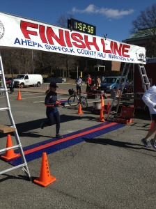 Heather at the Finish!