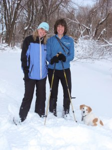 Constance, Stacey and Thelma at Trailview Park Long Island Winter 2013